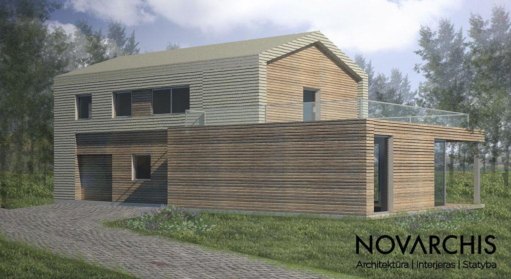 """Kartotinis gyvenamojo namo projektas """"VU3"""""""
